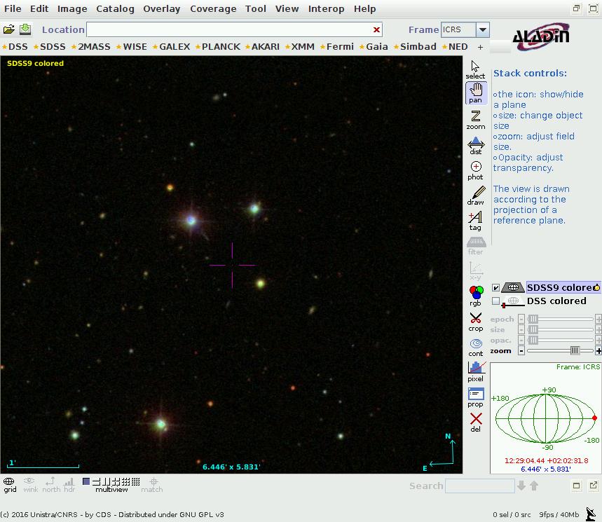 QSO 3C273 mit Jet im SDSS