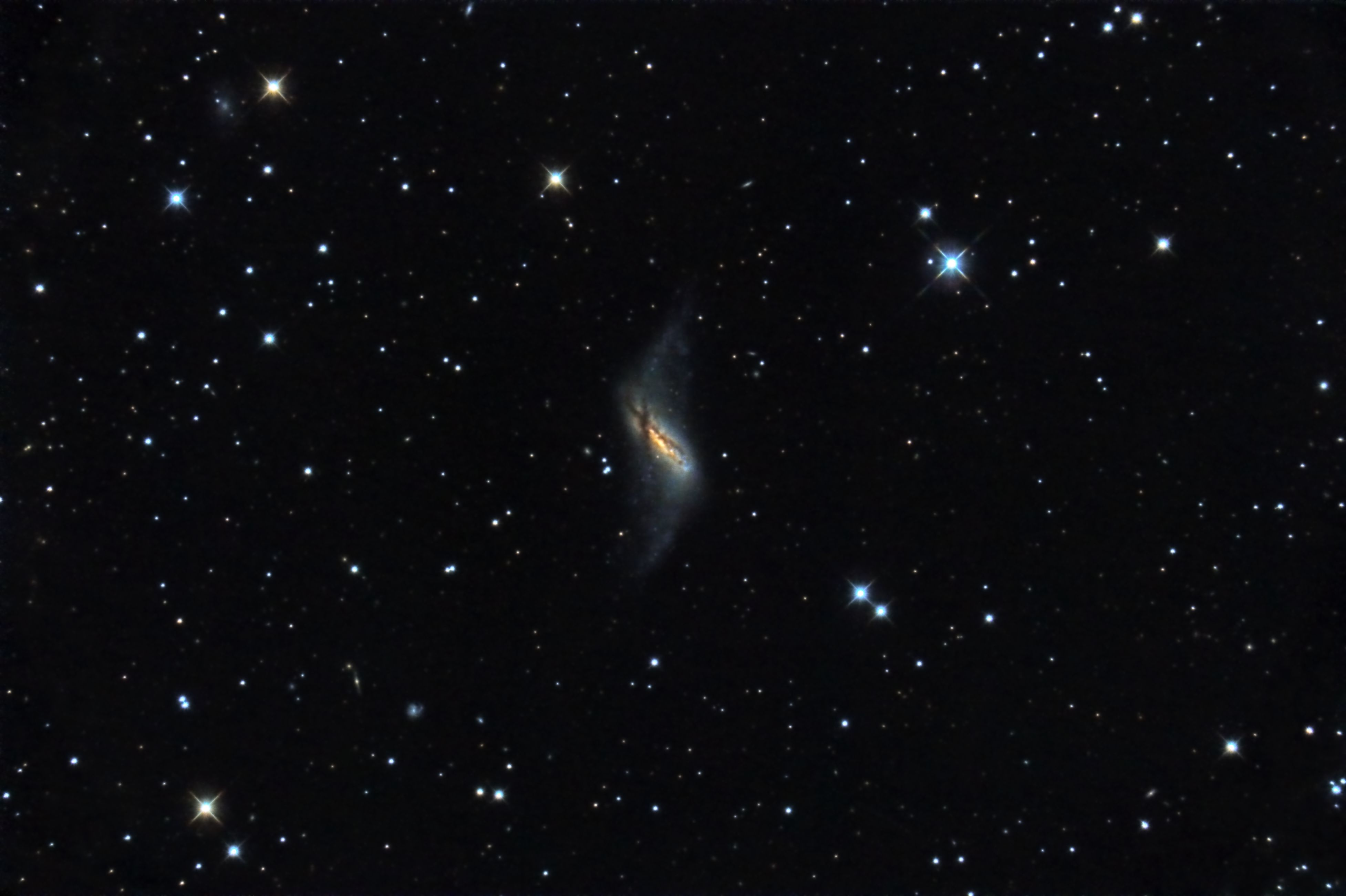 """NGC660, 12""""RC, Canon 40d"""